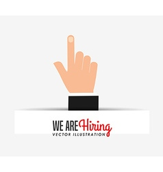 Hiring workers design vector