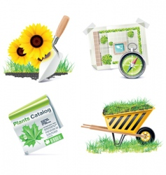 home building icons vector image vector image