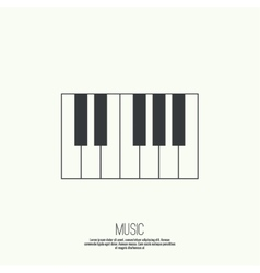 Icon piano keys vector