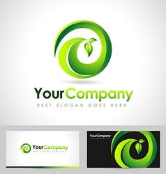 Leaf logo concept vector