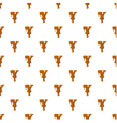 Letter y from caramel pattern vector