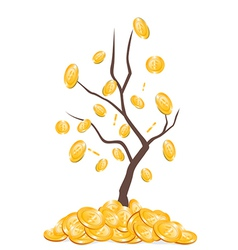 money falling from tree vector image vector image