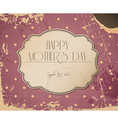 mothers day card background vector image vector image