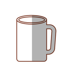 Mug coffee porcelain shadow vector