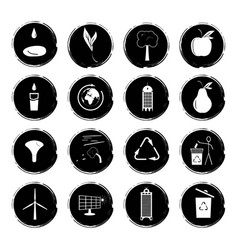 Sixteen black and white vector