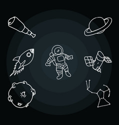 Space and travel scribbles vector