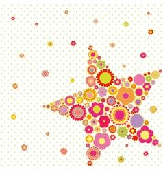 spring summer star vector image