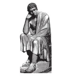 Statue of aristotle vintage vector