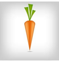 Sweet tasty carrot vector