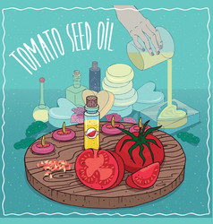 Tomato seed oil used for soap making vector