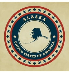 Vintage label alaska vector