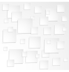 Much of white paper sheet with the shadow vector image