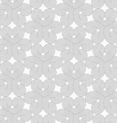 Slim gray hatched hearts in turn vector