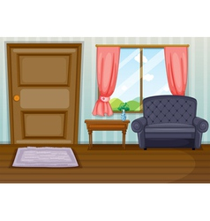 A clean living room vector