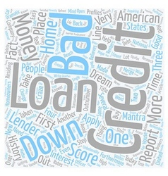 Bad credit no money down loans help within reach vector