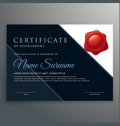 Modern certificate of achievement design vector