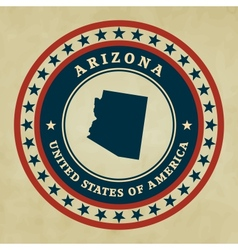 Vintage label arizona vector