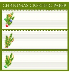 Christmas greeting paper vector