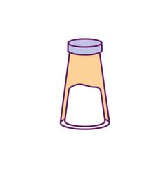 salt spice seasoning ingredient to meal vector image