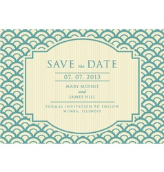 The Vintage Save The Date vector image