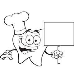 Cartoon chef tooth vector