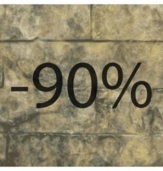 90 percent discount icon symbol Flat modern web vector image