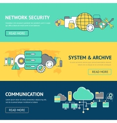 Network banners set vector