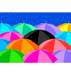 Colourful umbrellas vector
