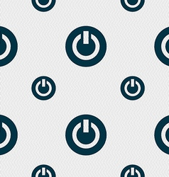 Power switch on turn on icon sign seamless pattern vector