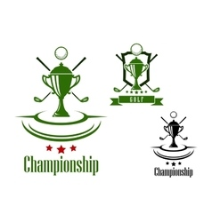 Golf championship emblem or banner vector