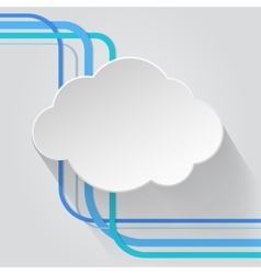 Cloud icon with wire vector
