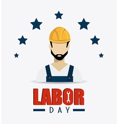 Labor day card design vector