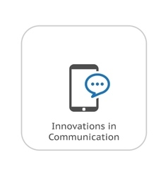 Innovations in communication icon business vector