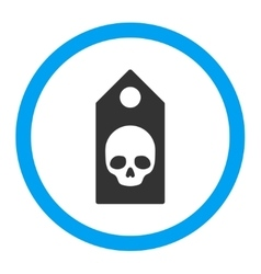 Death coupon rounded icon vector