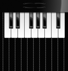 Illustration of piano keys vector