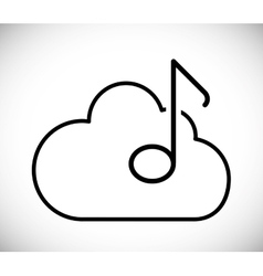Music cloud design vector