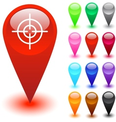 Target sight button vector