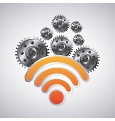 Wifi icon internet design graphic vector