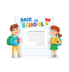 back to school frame poster vector image