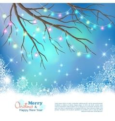 Christmas Light Bulbs Background vector image