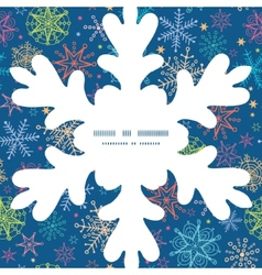 Colorful doodle snowflakes christmas snowflake vector