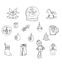 Decorative elements for winter holidays vector image