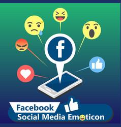 Facebook social media emoticon background i vector