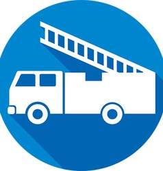 Fire truck icon vector