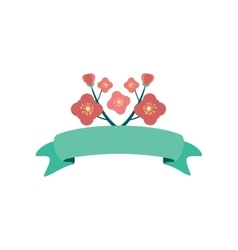 Flat icon on white background flowers garland vector