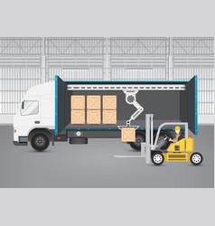 forklift truck vector image