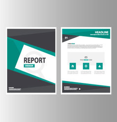 Green black brochure flyer leaflet templates layou vector