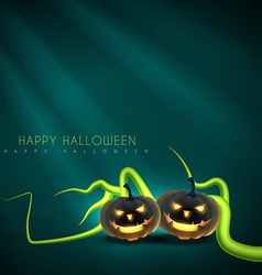 halloween greeting design vector image