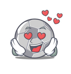 In love football character cartoon style vector