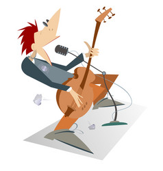 Man is playing guitar isolated vector